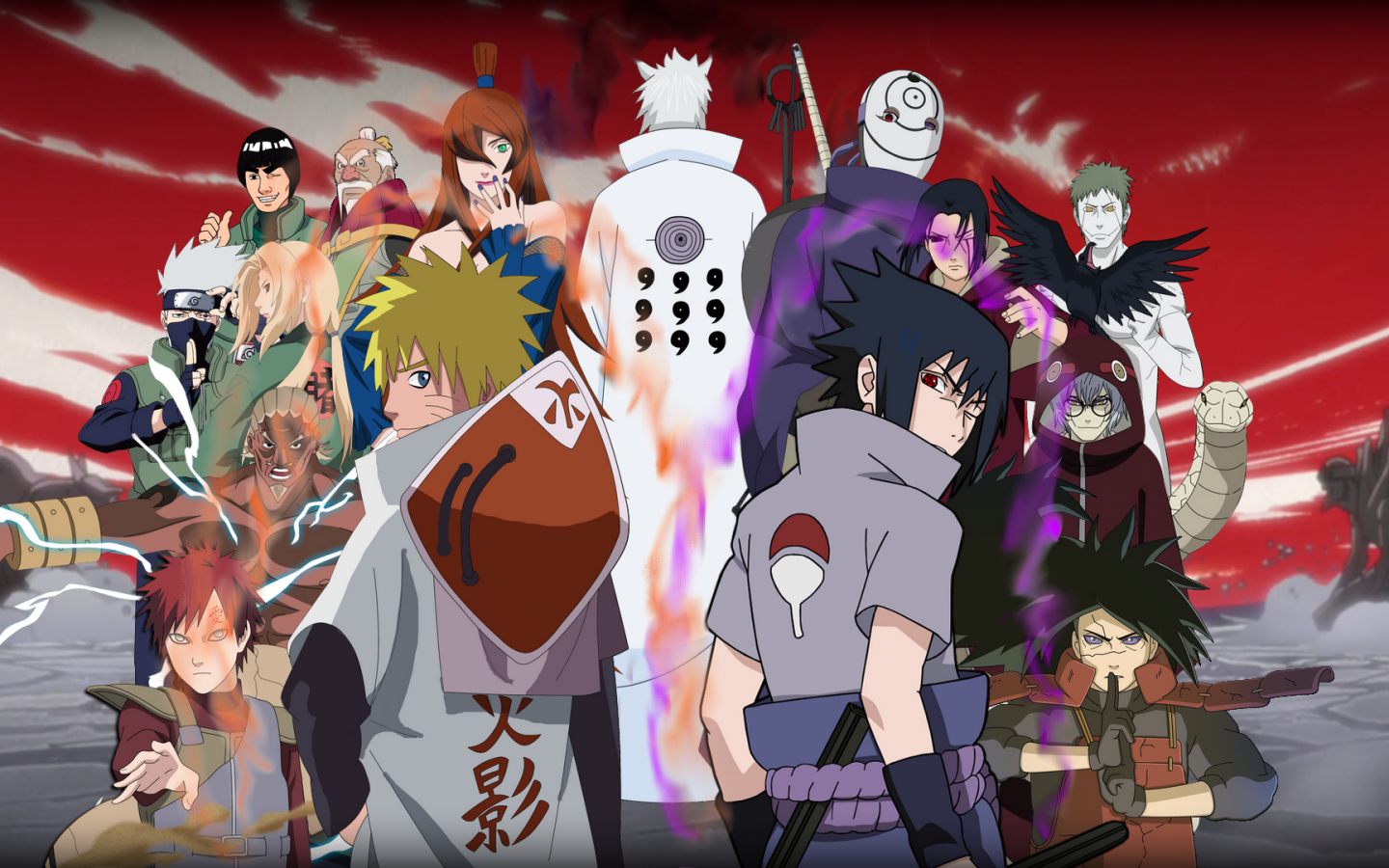 Naruto Characters In Real World Background Wallpaper: Iconic Opening And Endings In Naruto Anime