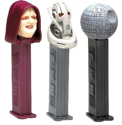 Star Wars PEZ of Emperor Palpatine, General Grievous, the Death Star