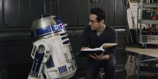 jj abrams reading to R2D2