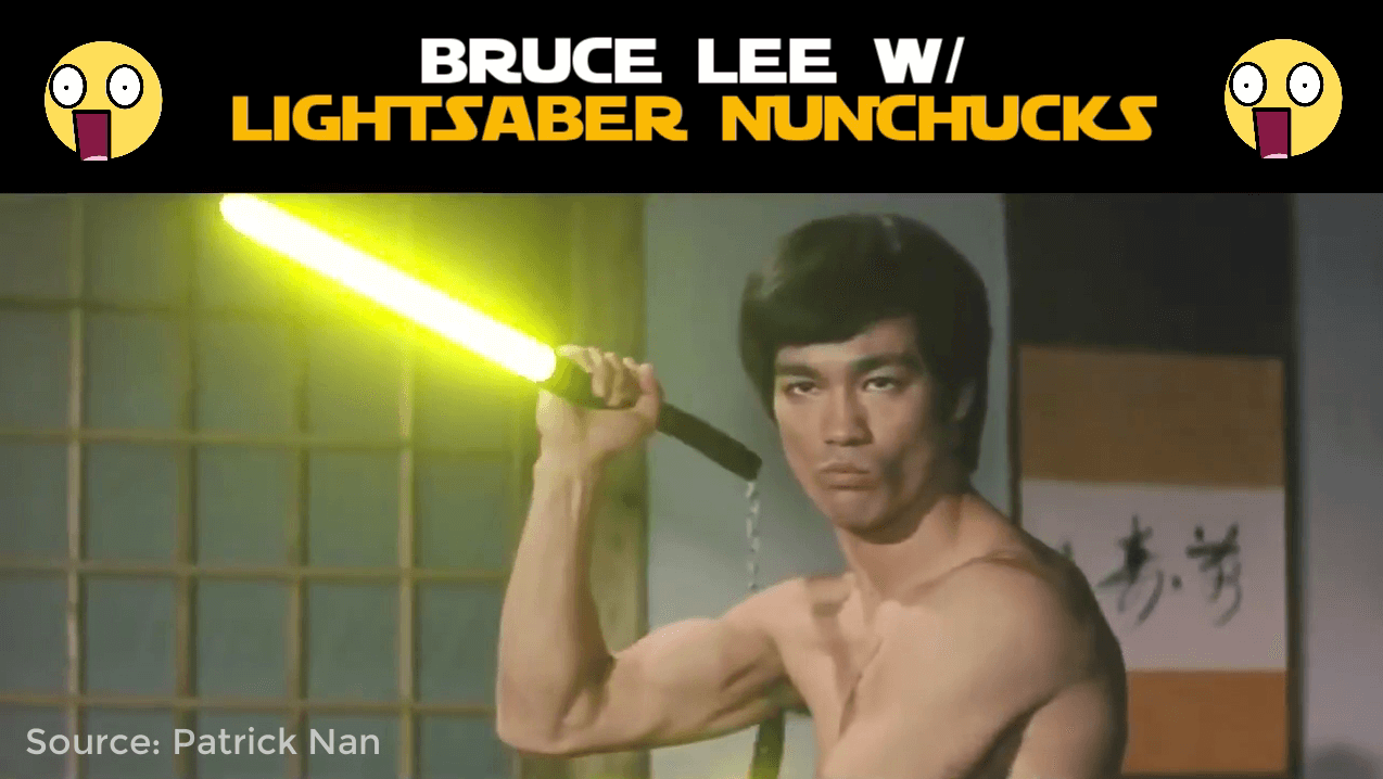 Bruce Lee Lightsabers Scene